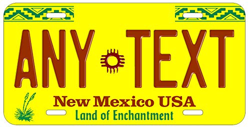 Top Craft Case Custom Personalized Vintage New Mexico State License Plate Any Text or Name Novelty Auto Car Tag