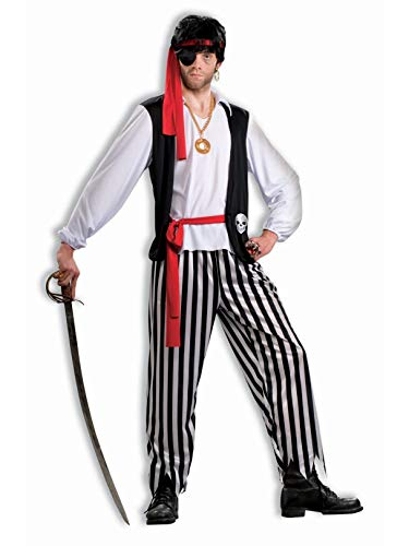 Forum Novelties Men's Pirate Matey Costume, Multi, Standard ()