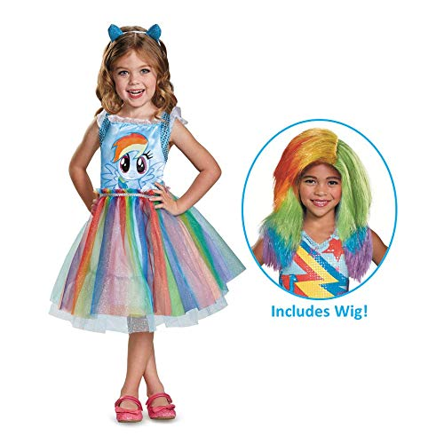 My Little Pony Rainbow Dash Costume with Wig]()