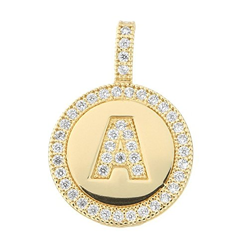 Yellow Gold Small Initial Pendant - 9