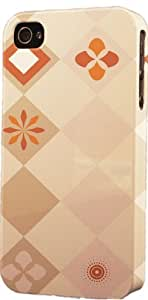 Brown Diamond Pattern Dimensional Case Fits Apple iPhone 4 or iPhone 4s