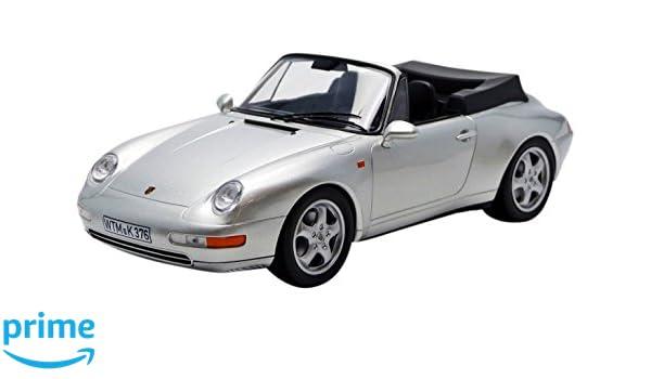Norev 1/18 Scale Diecast - 187952 Porsche 911 993 Carrera Cabriolet 1993 Silver: Amazon.es: Juguetes y juegos