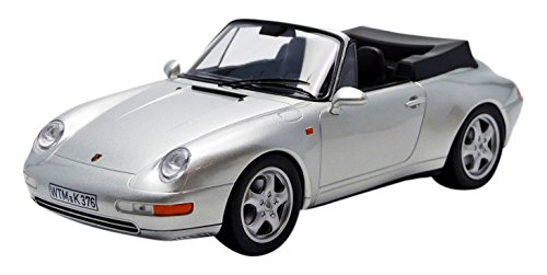 Norev NV187592 1:18 Scale 1994 Porsche 911 Cabriolet Silver Model Car