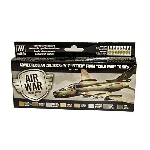 Vallejo - Air War Color Series Soviet/Russian Colors Su-7/17 Fitter from Cold War to 80