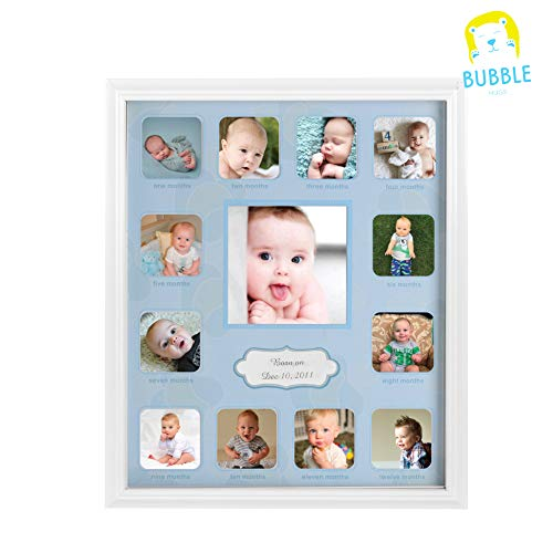Collage Photo Frame for Baby First Year Keepsake - 12 Months Picture Frames for Baby Boy Girl Newborn 1st Birthday-Gifts Ideas size 11