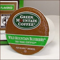 Green Mountain Coffee WILD MOUNTAIN BLUEBERRY 72 K-Cups for all Keurig Brewing Systems