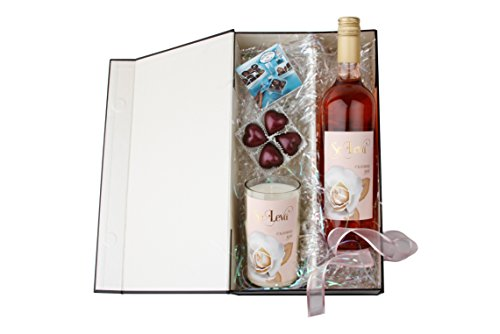 Rose All Day Wine Gift Set With Se Leva Rose Wine, Candle & Chocolates