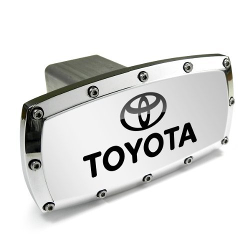 Toyota Logo and Name Billet Aluminum Tow Hitch Cover