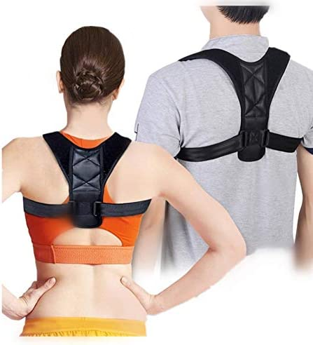 背中の姿勢補正子調節可能な背骨支柱側弯症肩のサポートアッパーバックサポートベルト男性用女性