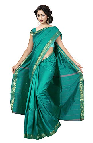 KoC Indian Traditional Ethnic Women wear Art Silk Saree -Emerald ()