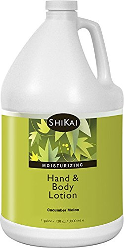 - Shikai - Natural Moisturizing Hand & Body Lotion, Softens & Moisturizes Skin with Aloe Vera, Borage Oil & Shea Butter, Sensually Smooth Skin with Delicious Fragrances (Cucumber Mellon, 1 Gallon)