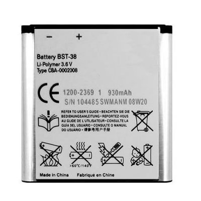 - HONGYU Smartphone Spare Parts BST-38 Battery for Sony Ericsson W580 Repair Parts (Color : Color1)