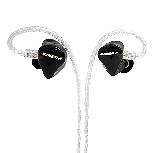 In Ear Monitors Kinera H3 Double Balanced Armatures & One Dynamic Cable Detachable IEM In Ear Earphone (Black) by Kinera