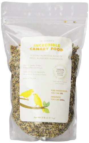 Birds Canary Pet (Dr. Harvey'S Incredible Canary Blend, Natural Food For Canaries, 2-Pound Bag)