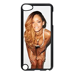Qxhu Rihanna patterns Protective Snap On Hard Plastic Case for Ipod Touch5