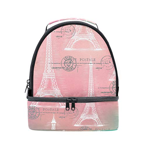 Eiffel Bolsa Alinlo París para el la hombro torre ajustable térmica de de el correa almuerzo con para 8dwR4pqdB