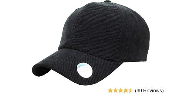 e132c37fc Amazon.com: KBE-COR-Classic BLK 6 Panel Corduroy Dad Hat Baseball ...