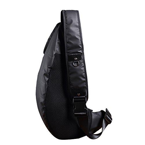 Genda 2Archer Duradero y Resistente al Agua Bolsa de Cuerpo Cruzado Bolsa de Hombro Mochila Escalada (20cm*12cm*54cm)