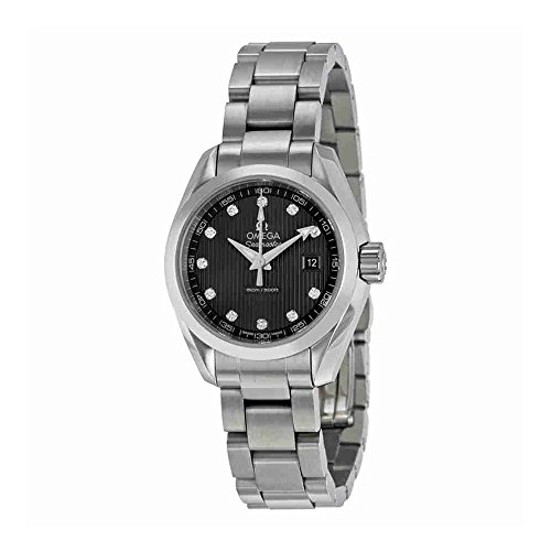 Omega Seamaster Aqua Terra Diamond Dark Grey Dial Stainless Steel Ladies Watch 23110306056001