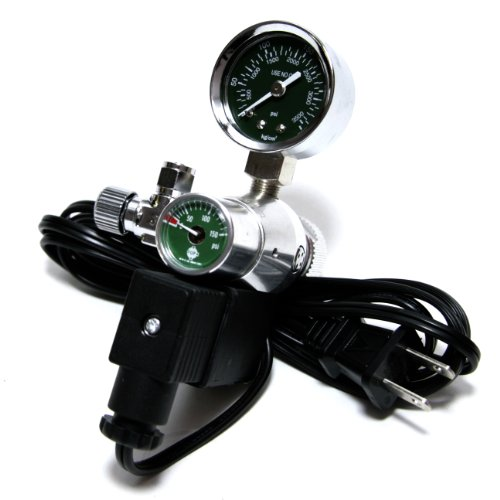 U.P. Aqua Co2 Regulator, Single Pressure Gauge