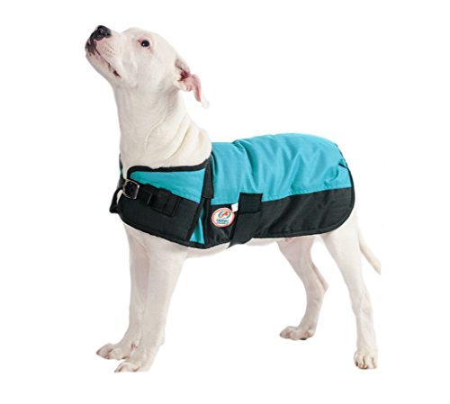 Derby Originals 600D Waterproof 150G Insulated Dog Blanket Coat at Wholesale Price (Hurricane Blue, Medium) (Wholesale Dog)