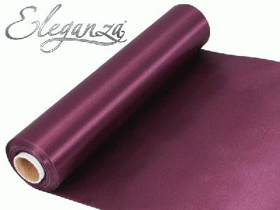 20m Roll Burgundy Satin Fabric for Weddings, Table Runners, Sashes and Swags Oak Tree