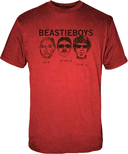 Beastie Boys Sketched Heads Men's Red T-Shirt
