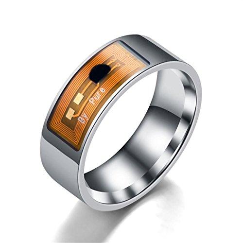 Clearance ! NFC Smart Ring,Vanvler Waterproof Intelligent Ring Finger Digital Ring Smart Wear Multifunctional Jewelry (11, Clear)