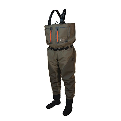 Frogg toggs pilot ii breathable stockingfoot waders medium for Fishing waders amazon