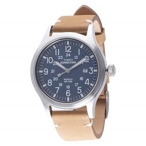Timex Reloj análogico para Hombre de cuarzo con correa de cuero