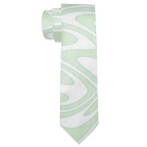 Men's Necktie Art Nouveau Butterfly Swirls Pale Mint Classic Neck Ties for Men Gift
