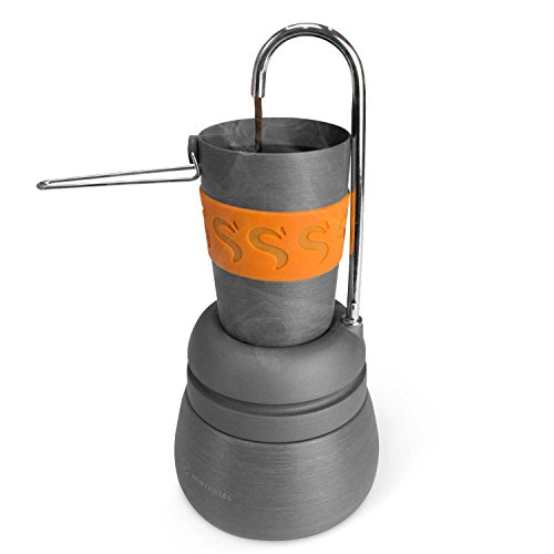 Winterial Compact Percolator Coffee Maker for Camping, Backpacking, Camping Coffee, Coffee Maker, Includes Cups
