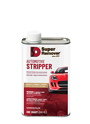 Automotive Stripper (Quart - 32oz) Super Remover - Removes Paint from Metal - Clings to Vertical Surfaces