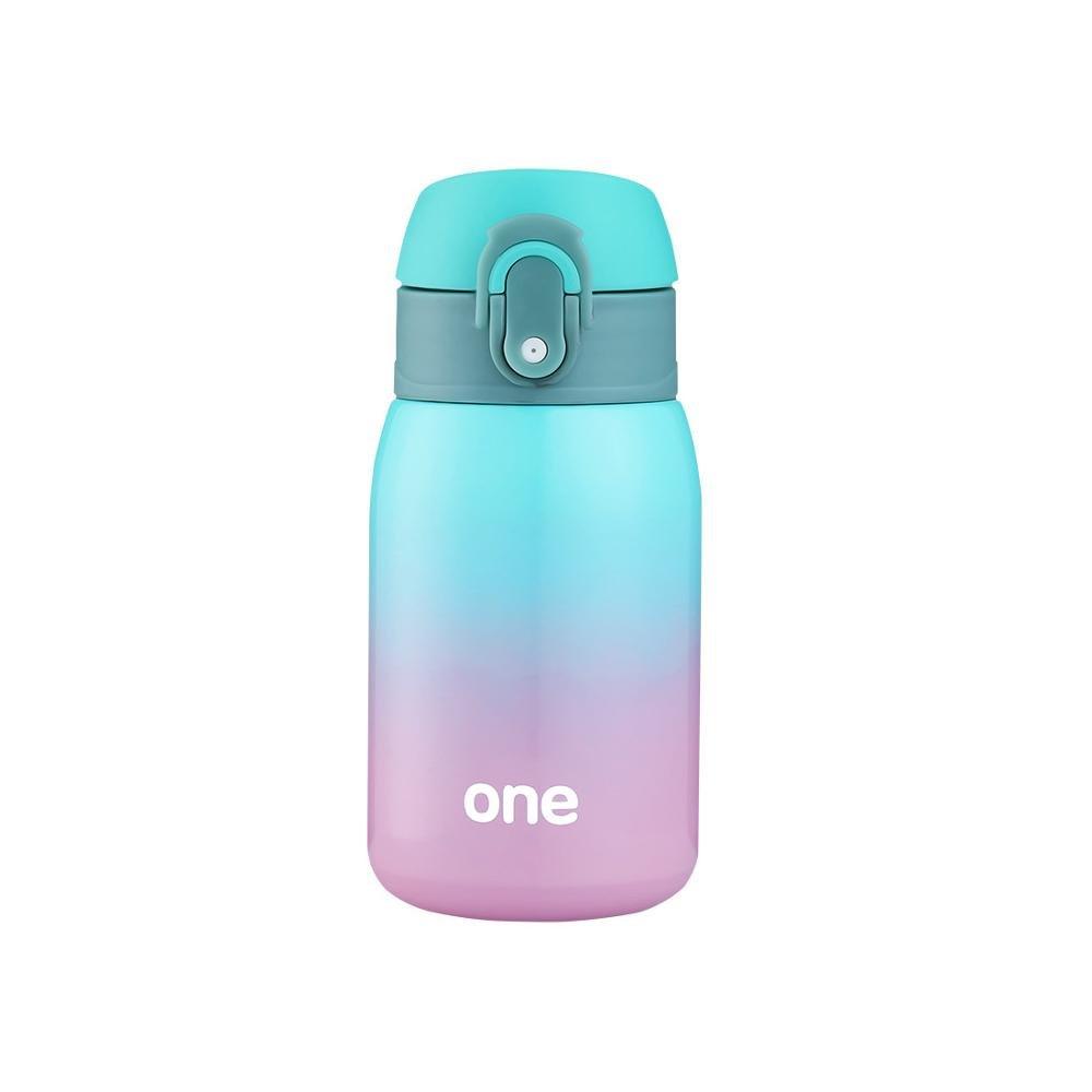 GRSB Flasche,Thermos Rainbow Gradient Thermos Becher Stahl Thermos Flasche Belly Tasse Thermische Flaschen Für Wasser Isolierte Tumbler Für Auto-Kaffee-Haferl