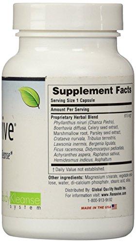 Renavive Natural Treatment For Kidney Stones (3) Bottles 60 Cap in each bottle