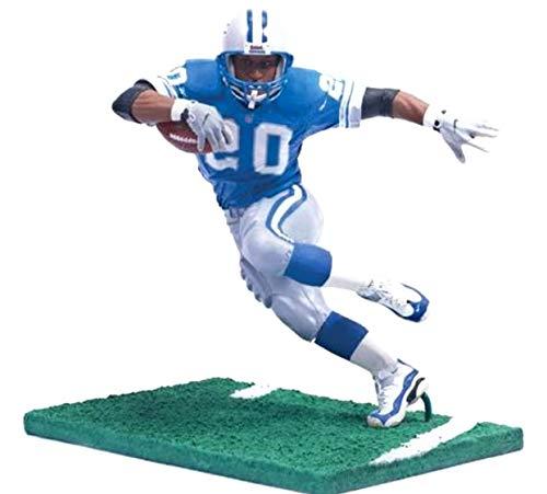 Barry Sanders Detroit Lions Regular Blue Jersey Uniform McFarlane NFL Legends Action