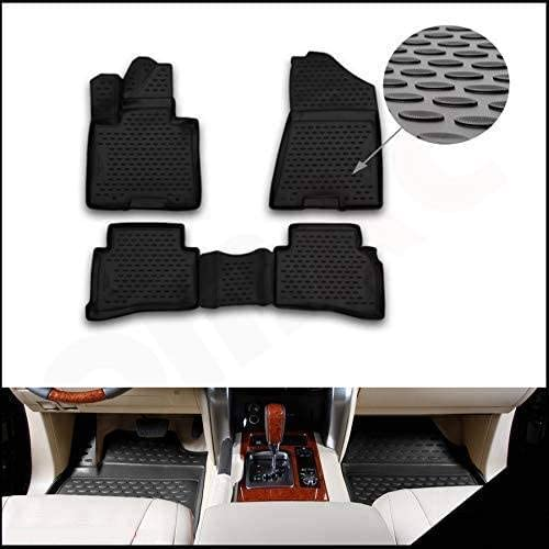 Omac Allwetter Auto Fußmatten Automatten Kompatibel Mit Hyundai Tucson 2015 2021 3d Passform Hoher Rand Gummimatten Allwetterfussmatten Schwarz 4 Teilig Auto