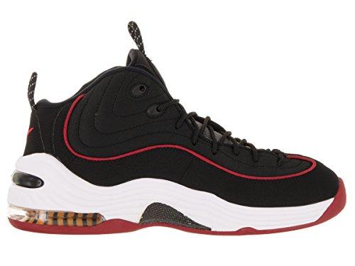Nike Air Penny II Basketballschuh Schwarz / Weiß / Universität Rot