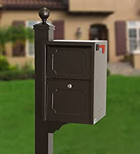 dVault Weekend Away Vault DVJR0060 Locking Mailbox with Side Mount In Ground Post Included (Copper Vein)