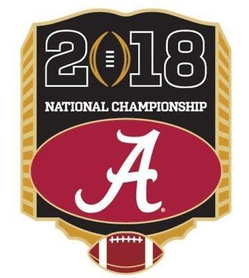 2018 National Championship Pin - Alabama Crimson (Alabama Crimson Tide Pins)