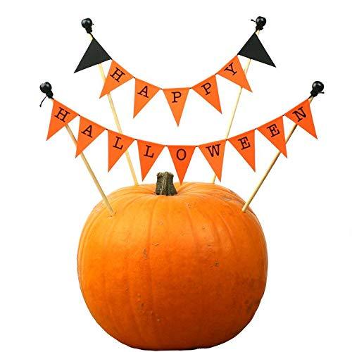 amazing buntings, Happy Halloween Cake Topper in Black, Orange, Adjustable Length]()