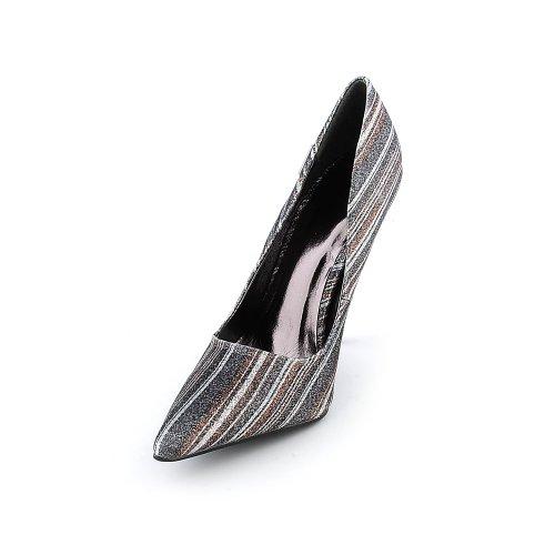 Shiekh Womens Mellina Dress High Heel - Multi-Color Glitter Size 6