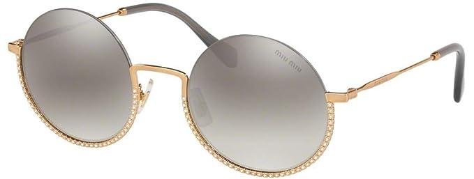 Miu Miu Gafas de Sol SMU 69U Gold/Grey Mujer: Amazon.es ...