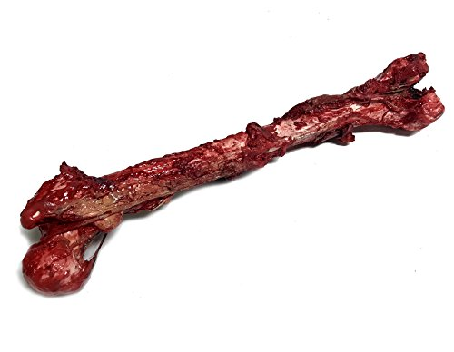 NewRuleFX Bloody, Grisly Femur Bone with Skin and Gore - Full Size FX Prop