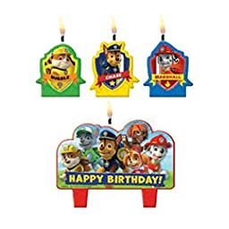 Paw Patrol Mini Candle Set (4pc)