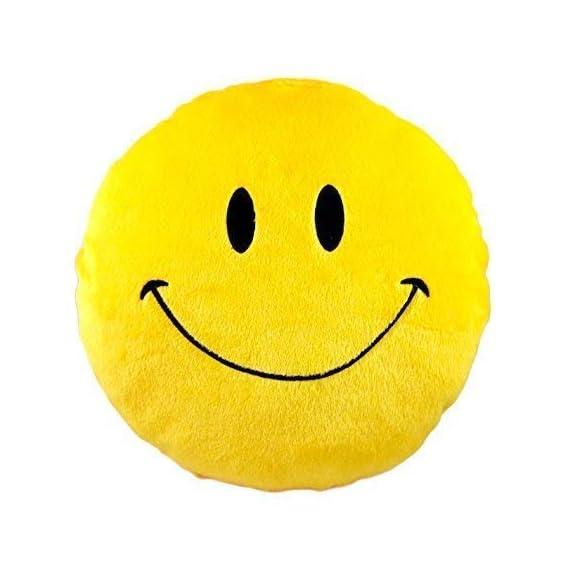 PRACHI TOYS Smiley Thick Plush Pillow Round Cushion Pillow Stuffed /Gift for Kids/for Birthday Gift