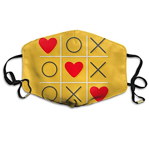 Tic-Tac-Toe Game with XOXO Design Printed Mouth Masks Unisex Anti-dust Masks Reusable Face -
