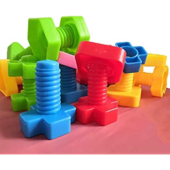 Amazon.com: Jumbo Nuts and Bolts Set with Toy Storage and