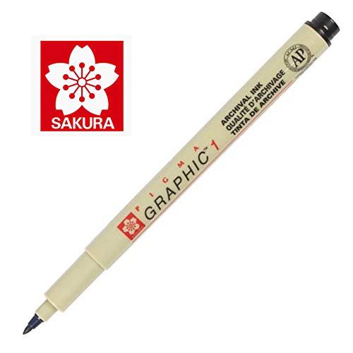 Sakura Pigma Graphic Pen 1.0 mm [Pack of 12 ]