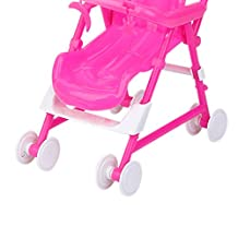 Fenteer Dollhouse Nursery Furniture Stroller Pram for Barbie Kelly Dolls DIY NEW